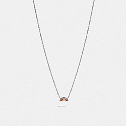 COACH F67094 Rainbow Necklace MULTI/SILVER