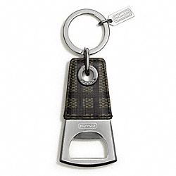 COACH F67097 - TATTERSALL BOTTLE OPENER KEY RING ONE-COLOR