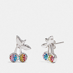 COACH F67102 Cherry Earrings MULTI/SILVER