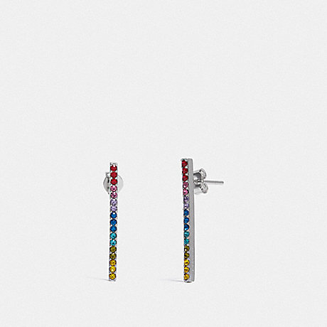 COACH F67103 BAR EARRINGS MULTI/SILVER