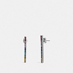 COACH F67103 - BAR EARRINGS MULTI/SILVER