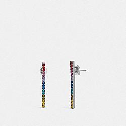 BAR EARRINGS - F67103 - MULTI/SILVER
