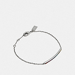 COACH F67104 Bar Bracelet MULTI/SILVER