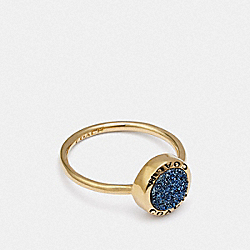 COACH F67126 Open Circle Ring BLUE/GOLD