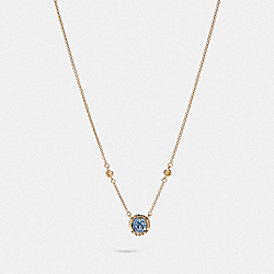 COACH F67127 Open Circle Necklace BLUE/GOLD
