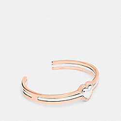 COACH F67154 Halo Heart Bangle ROSE GOLD/SILVER
