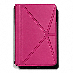 COACH F67156 Bleecker Leather Mini Ipad Case FUCHSIA