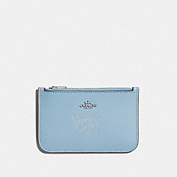 COACH F67252 - SELENA ZIP CARD CASE CORNFLOWER/SILVER