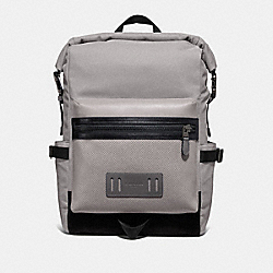 COACH F67312 - TERRAIN ROLL TOP BACKPACK GREY BIRCH/BLACK ANTIQUE NICKEL