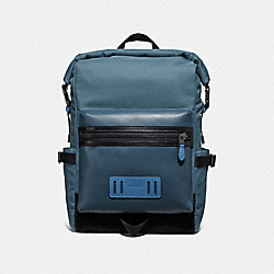 COACH F67312 - TERRAIN ROLL TOP BACKPACK PVD BLUE/BLACK ANTIQUE NICKEL
