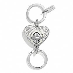 COACH F67400 Milton Glaser Valet Key Ring SILVER