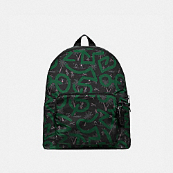 KEITH HARING PACKABLE BACKPACK WITH HULA DANCE PRINT - F67409 - BLACK MULTI/BLACK ANTIQUE NICKEL