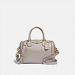 IVIE BENNETT SATCHEL - F67414 - GREY BIRCH/LIGHT GOLD