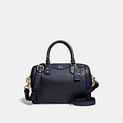 IVIE BENNETT SATCHEL - F67414 - MIDNIGHT/LIGHT GOLD