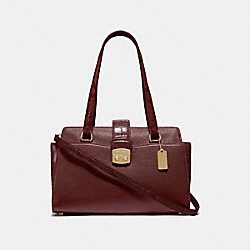 AVARY CARRYALL - F67451 - WINE/IMITATION GOLD