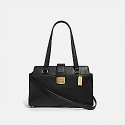 AVARY CARRYALL - F67455 - BLACK/LIGHT GOLD