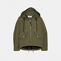 MINI EMBELLISHED PARKA - F67458 - LAUREL GREEN