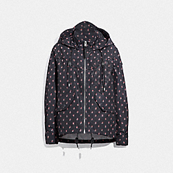 COACH F67477 - SIGNATURE FLORAL WINDBREAKER NAVY/MULTI