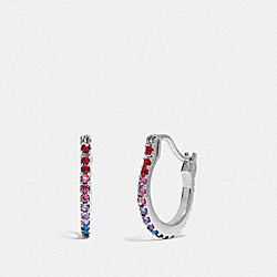 COACH F67479 Huggie Earrings MULTI/SILVER