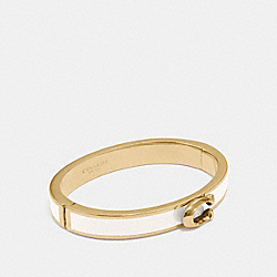 SIGNATURE PUSH HINGED BANGLE - F67480 - GOLD/CHALK