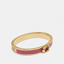 SIGNATURE PUSH HINGED BANGLE - F67480 - STRAWBERRY/GOLD