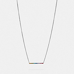 COACH F67481 Bar Necklace MULTI/SILVER