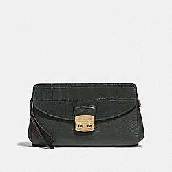 COACH F67497 Flap Clutch IVY/IMITATION GOLD