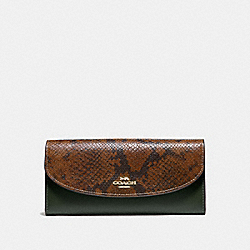 COACH F67499 Slim Envelope Wallet IVY/IMITATION GOLD