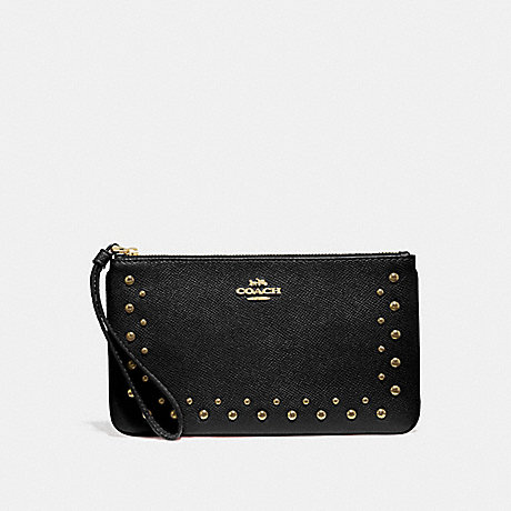 COACH F67501 LARGE WRISTLET WITH STUDS BLACK/IMITATION GOLD