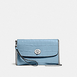 CHAIN CROSSBODY - F67503 - CORNFLOWER/SILVER