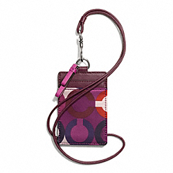 COACH F67518 - PARK OP ART SCARF PRINT LANYARD ID ONE-COLOR