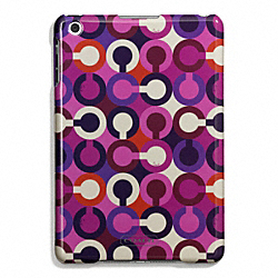 COACH F67519 Park Op Art Scarf Print Molded Mini Ipad Case