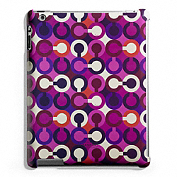 COACH F67520 Park Op Art Scarf Print Molded Ipad Case