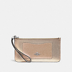 COACH F67541 Zip Top Wallet In Colorblock CHALK MULTI/SILVER