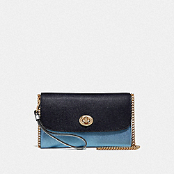 COACH F67543 - CHAIN CROSSBODY IN COLORBLOCK MIDNIGHT MULTI/IMITATION GOLD