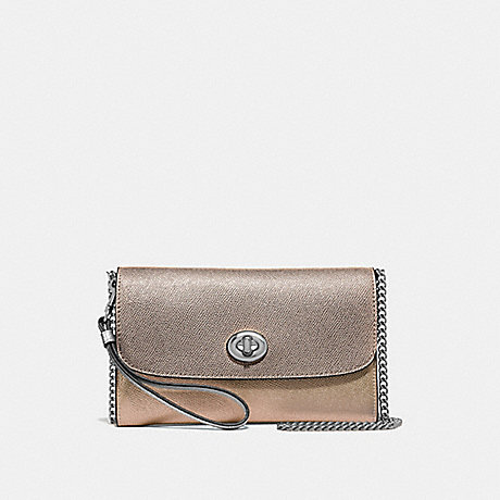 COACH F67543 CHAIN CROSSBODY IN COLORBLOCK<br>蔻驰链论在拼色 粉笔多银