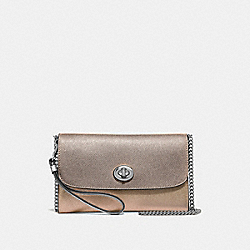 CHAIN CROSSBODY IN COLORBLOCK - F67543 - CHALK MULTI/SILVER