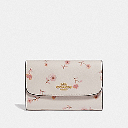 COACH F67548 Medium Envelope Wallet With Vintage Prairie Print CHALK MULTI/IMITATION GOLD