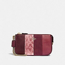 COACH F67591 Large Wristlet 19 WINE MULTI/LIGHT GOLD