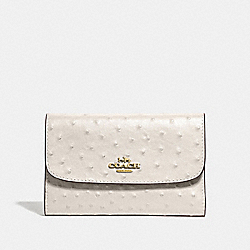COACH F67594 Medium Envelope Wallet CHALK/LIGHT GOLD