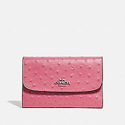 COACH F67594 - MEDIUM ENVELOPE WALLET STRAWBERRY/SILVER