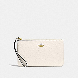 COACH F67607 Large Wristlet CHALK/LIGHT GOLD