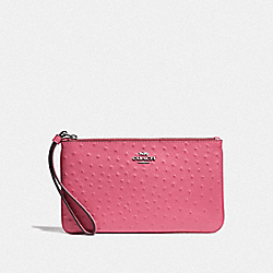 COACH F67607 Large Wristlet STRAWBERRY/SILVER