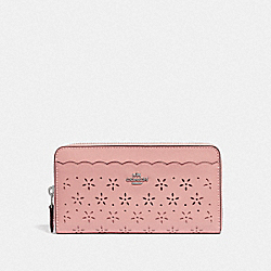COACH F67609 Accordion Zip Wallet PETAL/STRAWBERRY/SILVER