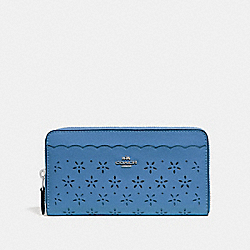 COACH F67609 Accordion Zip Wallet SKY BLUE/MIDNIGHT/SILVER