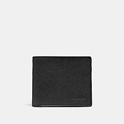 COACH F67630 Id Billfold Wallet BLACK/BLACK ANTIQUE NICKEL