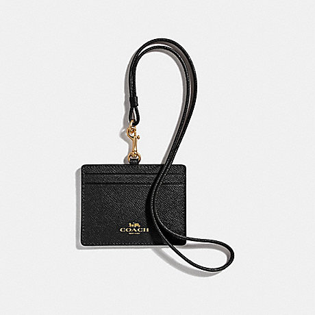 COACH F67652 ID LANYARD BLACK/IMITATION GOLD