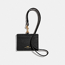 COACH F67652 - ID LANYARD BLACK/IMITATION GOLD
