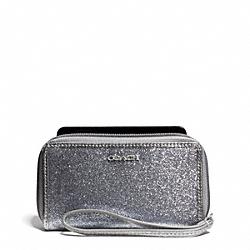 COACH F67656 East/west Glitter Universal Case SILVER/SILVER