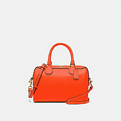 MINI BENNETT SATCHEL - F67673 - NEON ORANGE/LIGHT GOLD
